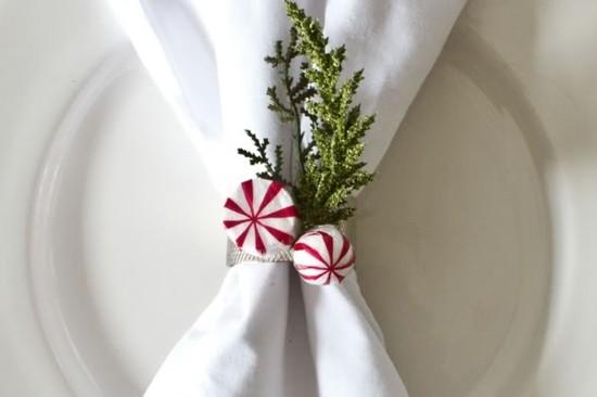 diy serviettenringe zu weihnachten bonbons