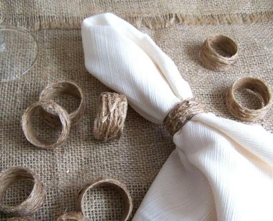einfache jute serviettenringe selber machen