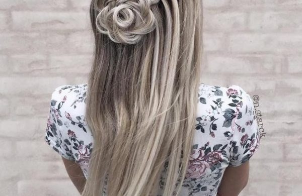 eleganter Zopf - tolle Ideen für Damen Wasserfall Frisur
