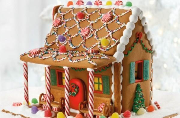 essbares Lebkuchenhaus bauen und dekorieren Lebkuchen Rezept einfach