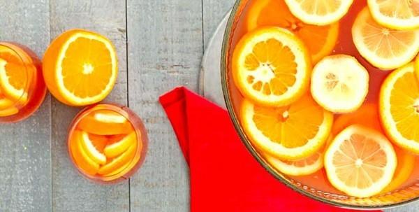 fruchtige silvester bowle mit orangen