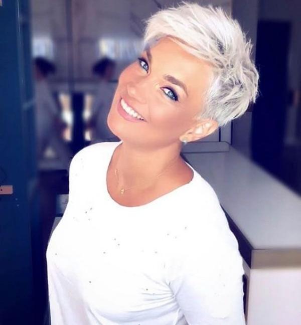 helle blonde Frisuren Trend Frisuren Pixie Frisur