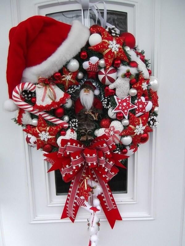 ideen für die tür diy deko weihnachtskranz