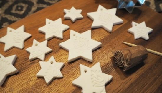 kaltporzellan sterne basteln weihnachtsdeko