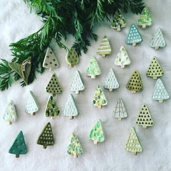 kaltporzellan weihnachtsschmuck selber machen