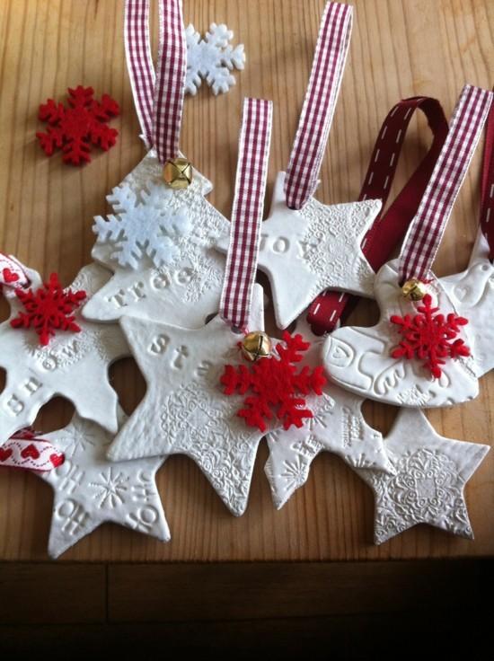 kaltporzellan weihnachtssterne basteln
