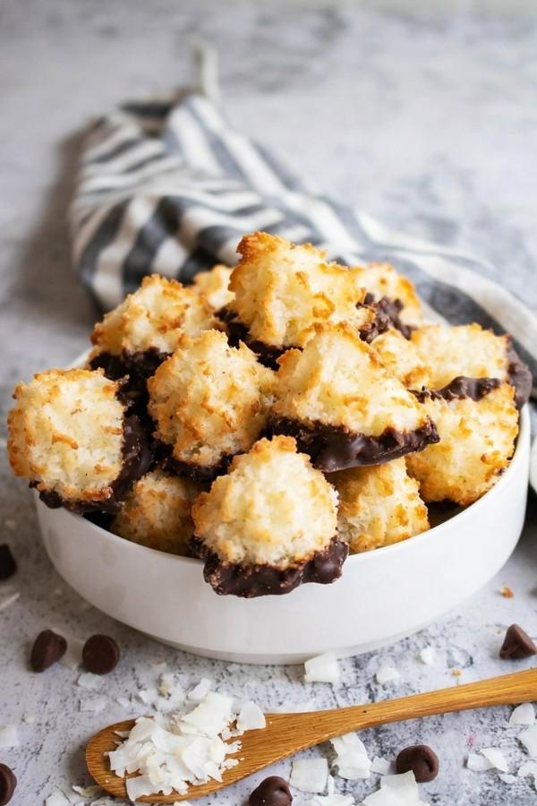 kokosmakronen dunkle schokolade weihnachten