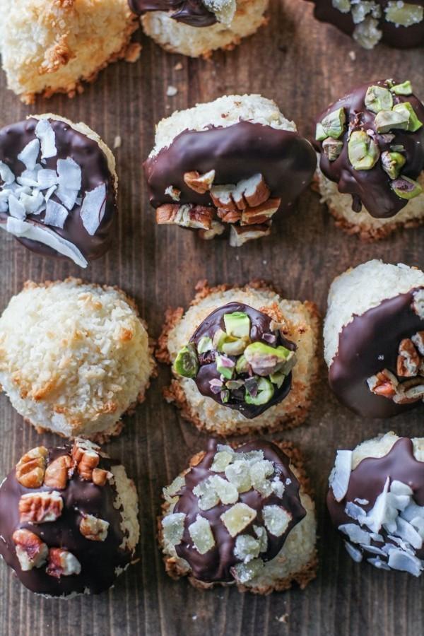 kokosmakronen schokolade nüssen
