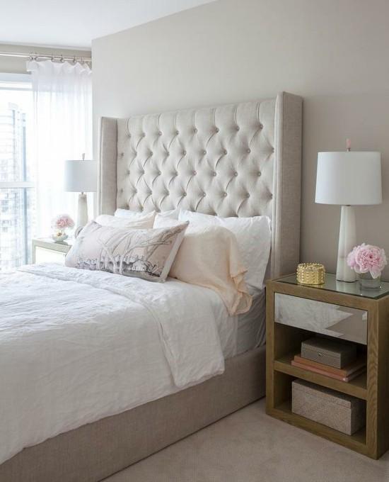 lampenfuß alabaster schlafzimmer einrichtungsidee