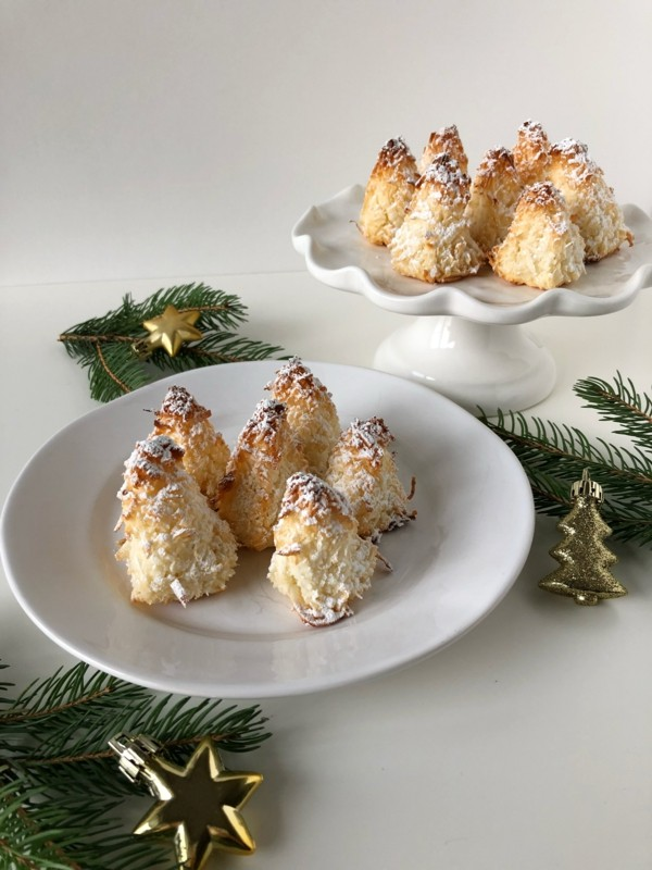 leckere kokosmakronen tannenbäumchen zubereiten