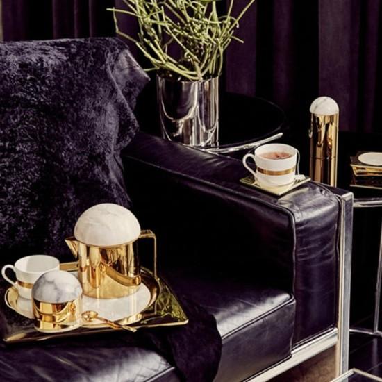 luxuriöse einrichtungsideen alabaster gold