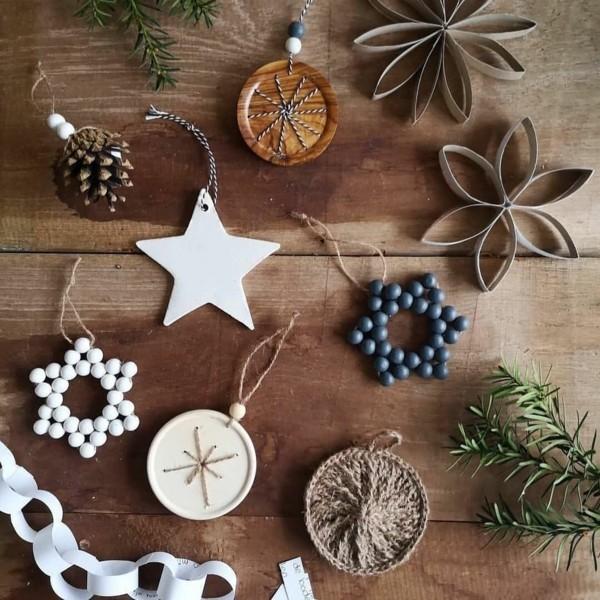 nachhaltigen weihnachtsschmuck basteln