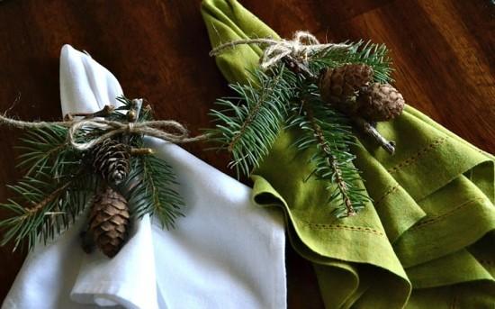 natürliche materialien serviettenringe weihnachten
