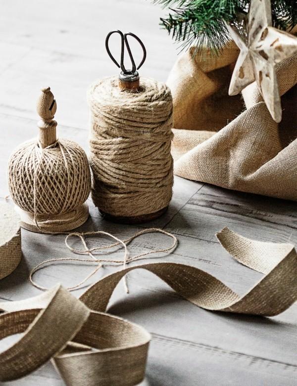 naturmaterialien jute rupfen nachhaltige weihnachten