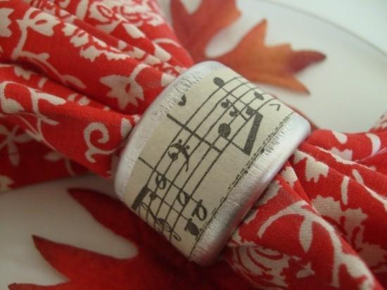 notenpapier serviettenringe selber machen