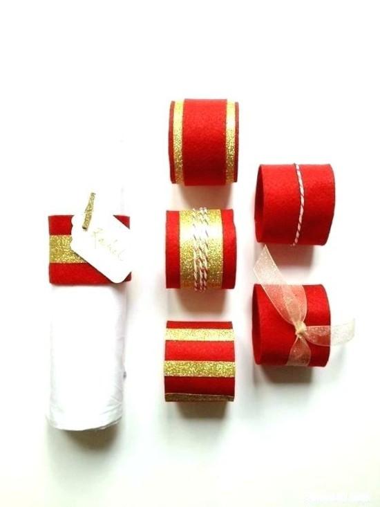 serviettenringe weihnachten aus klorollen basteln