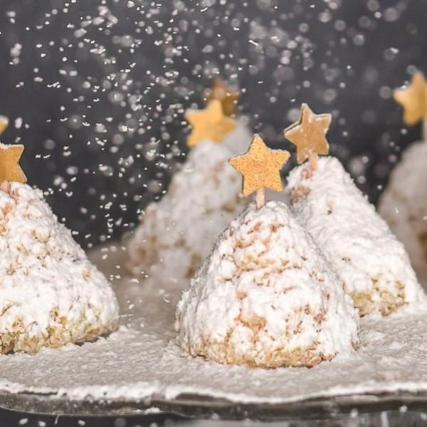tannenbäume kokosmakronen weihnachtliches dessert