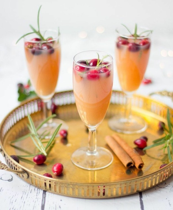 würziges rezept silvester bowle mit rosmarin