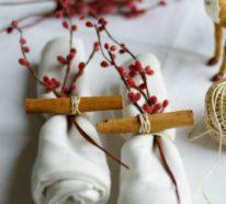 Weihnachtliche Serviettenringe – 45 festliche DIY-Ideen zum Nachmachen