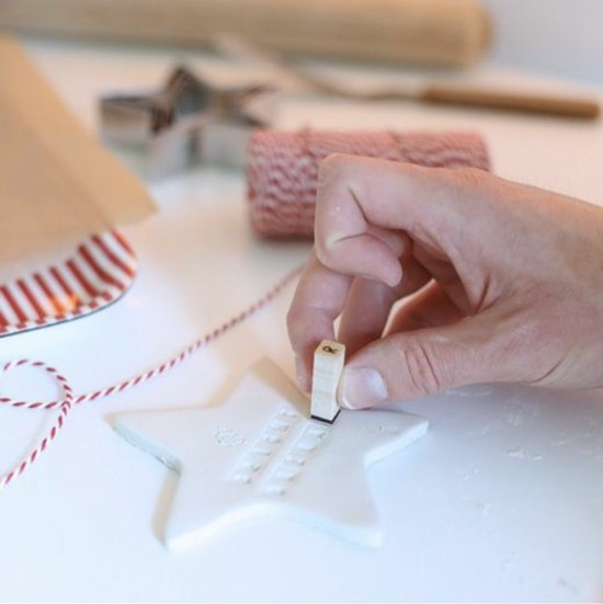 weihnachtsdeko aus kaltporzellan selber machen