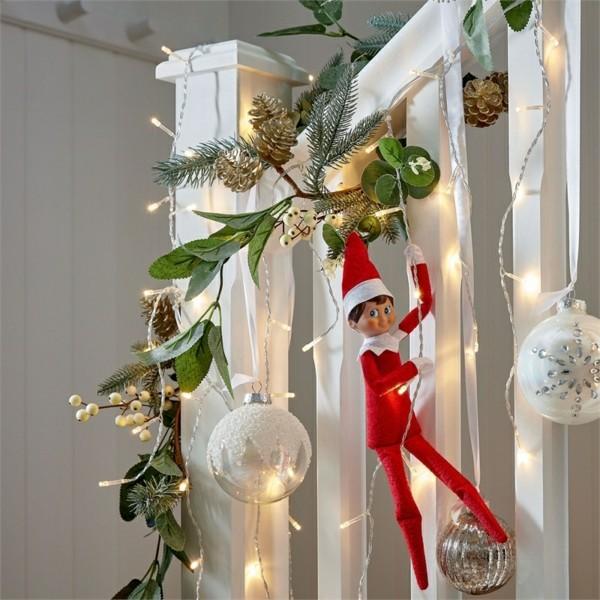 weihnachtsgirlande mistelzweig
