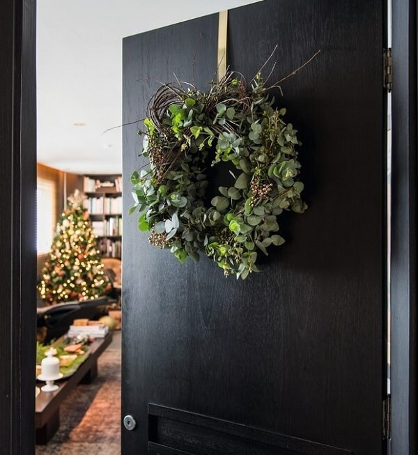 weihnachtskranz dekoration für die tür