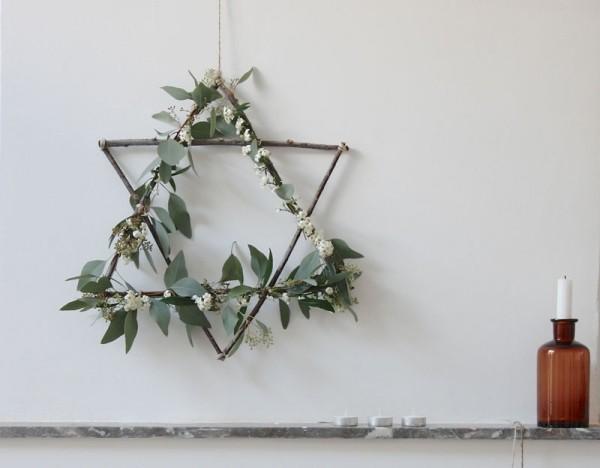 weihnachtskranz wandgestaltung weihnacnten deko
