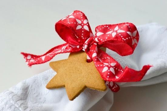 weihnachtsplätzchen stern serviettenringe selber machen