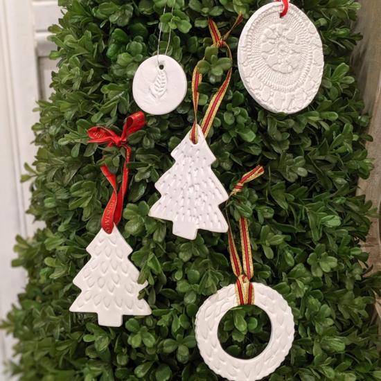 weihnachtsschmuck aus kaltporzellan selber machen