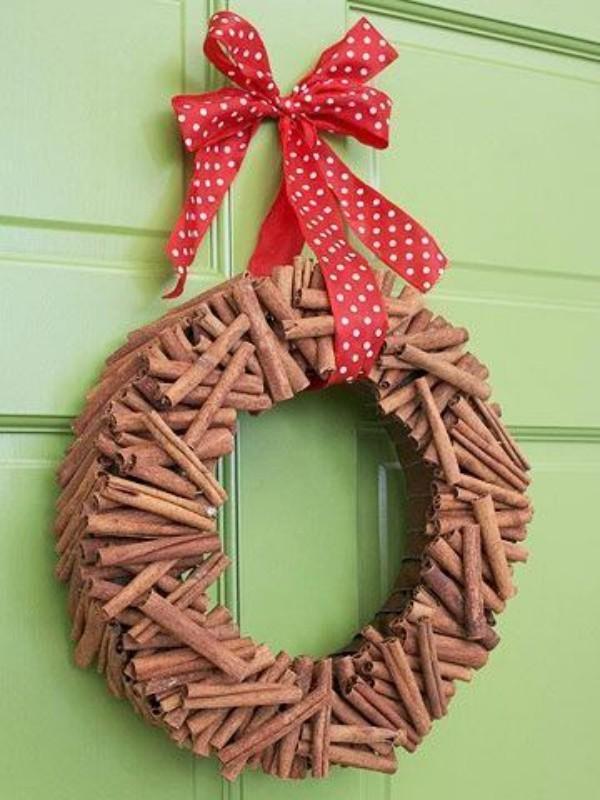zimt stäbchen weihnachten - weihnachtskranz