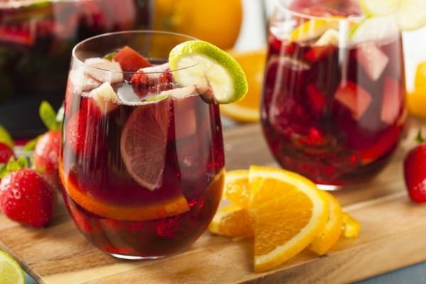 zitrone orangen erdbeer silvester bowle