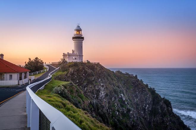 Australien 7 Sehenswürdigkeiten Leuchtturm in Byron Bay atemberaubende Aussicht