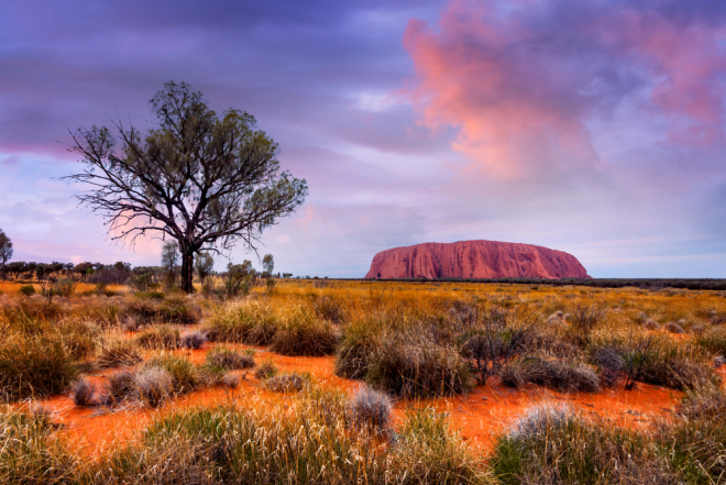 Australien 7 Sehenswürdigkeiten Uluru der rote Felsen das meistfotografierte Naturwunder der Welt