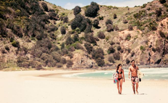 Australien 7 Sehenswürdigkeiten schöne Natur weite weiße Strände Byron Bay