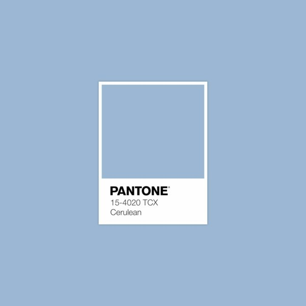 Cerulean 2000 Classic Blue Pantone Farbe des Jahres 2020