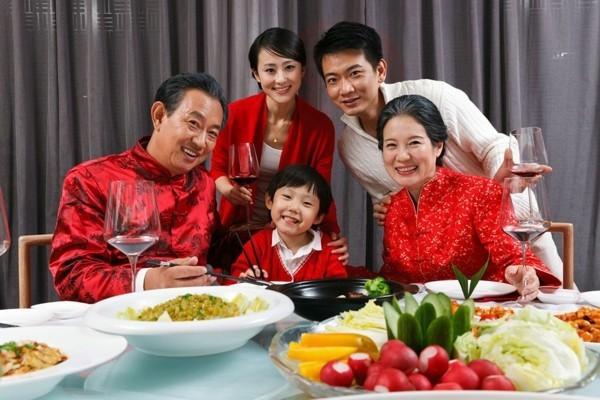 Chinesisches Neujahr 2020 Familienabendessen Tradition