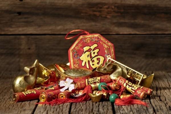 Chinesisches Neujahr 2020 Rot Gold Dekoartikel