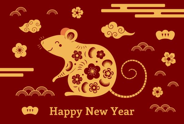 Chinesisches Neujahr 2020 das Jahr der Ratte