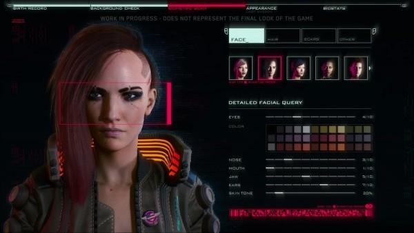 Cyberpunk 2077 Alles was wir bisher wissen V Spieler Creation Screen Personalisierung