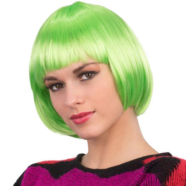 Einfache Frisuren - grüne Perücke