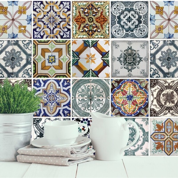 Fliesenaufkleber Küchenrückwand Fliesen Muster Ornamente