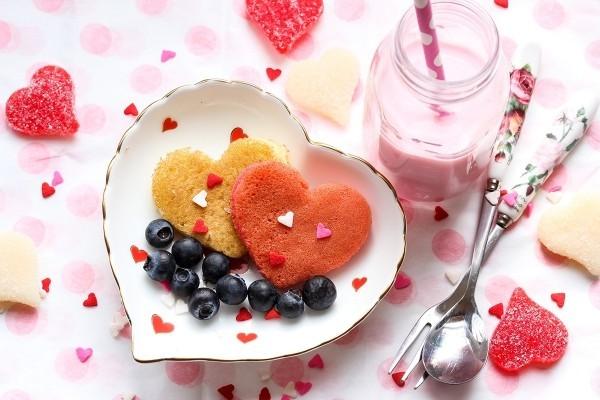 Früchte Ideen für den Valentinstag Frühstück