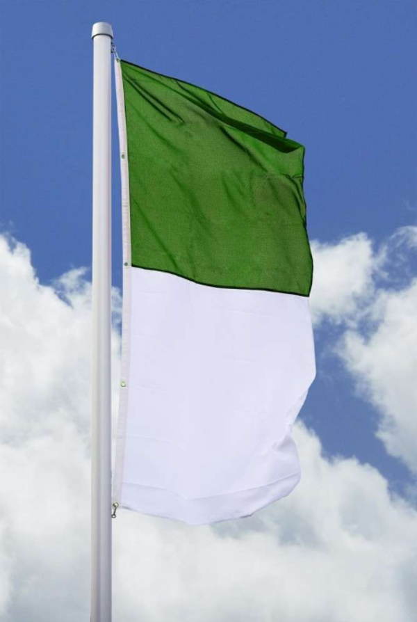 Gartenfahnen und Flaggen Schutzenfahnen grün weiß