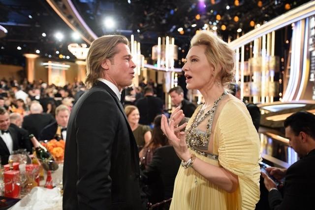 Golden Globe Awards 2020 Brad Pitt im Gespräch mit Kate Blanchett