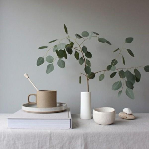 Japandi Wohntrends 2020 Deatils grüne Pflanzen Inneneinrichtung Ideen