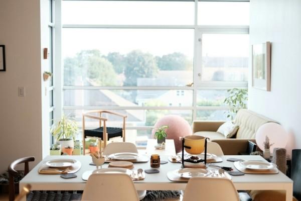 Japandi Wohntrends 2020 Esstisch Wohnbereich Inneneinrichtung Ideen