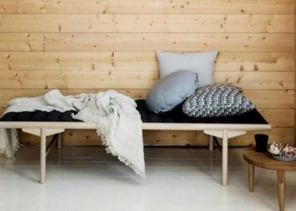 Japandi Wohntrends 2020 Holzbank Inneneinrichtung Ideen