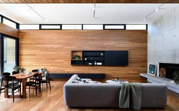 Japandi Wohntrends 2020 Holzwand Holzboden Inneneinrichtung Ideen