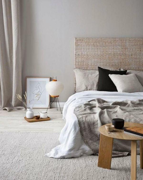 Japandi Wohntrends 2020 Schlafzimmer Bett Inneneinrichtung Ideen