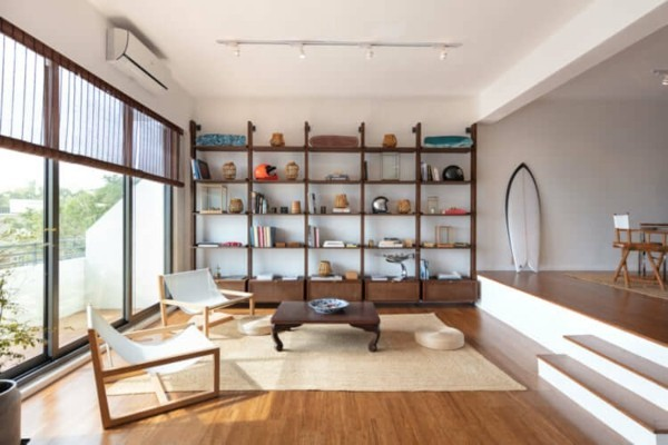 Japandi Wohntrends 2020 Wandregal Holz Inneneinrichtung Ideen